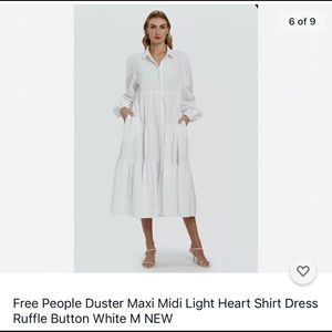 Free People Light Heart tiered maxi shirt dress